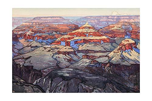 (Hanga Harbor Japanese Art Print - Grand Canyon from The American Series by Yoshida Hiroshi)
