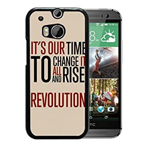 Time Quote Durable High Quality HTC ONE M8 Phone Case