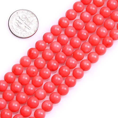 (GEM-inside 6mm Round Pink Coral Beads Loose Beads Findings Accessories Strand 15 Inches)
