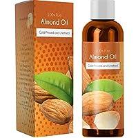 100% de aceite de almendra dulce puro para las uñas de la piel y el crecimiento del cabello Aromaterapia Aceite portador Hidratante Tratamiento antienvejecimiento Aceite de masaje para las estrías Cicatrices Círculos oscuros Arrugas Aceite de belleza