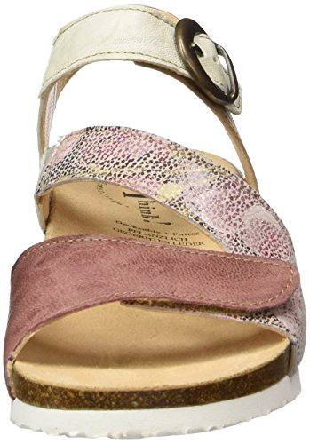 Think Mizzi, Sandalias con Cuña Para Mujer Multicolor (rosa/kombi 33)