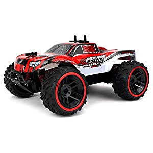 Buggy Crazy Muscle Remote Control RC Truck Truggy 2.4 GHz PRO System 1:16 Scale Size RTR w/ Working Suspension, Spring Shock Absorbers (Colors May Vary)