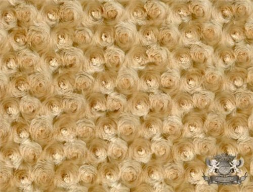 Minky Rosebud CAMEL Fabric By the Yard