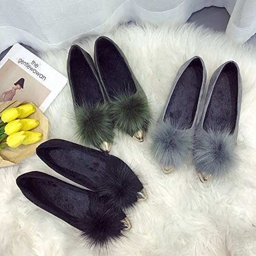 Autunno Punta Superficiale Stivali Donne Inverno pi e Donna casa in Bocca scarpa delle a Basse Scarpe Vovotrade Peluche Moda wgYq6Y