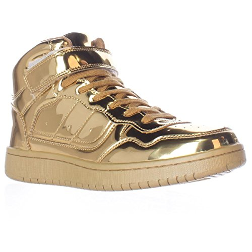 Madden Girl Womens Sliick Hoge Top Lace Up Fashion Sneakers Goud