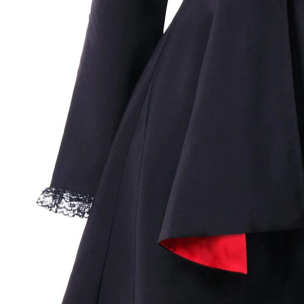 Womens Military Coats Double Breasted Lace Trench Coat Winter Color Block Irregular Tuxedo High Low Jacket