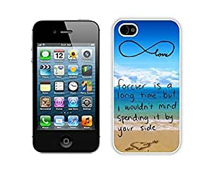 Apple iPhone 5c Case Durable Soft Silicone TPU Element White Cell Phone Case Cover Protector for Iphone 5c Pop infinity anchor with love and sandy beach design