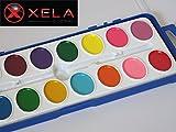 XELA Global Washable Watercolor Paint Set 16 Oval