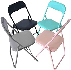 LJ Chair Deluxe Faux Leather Pad Stackable Chair,Strong Steel Frame, Office and Computer Back Rest Chair,Pack of 4,Four-colorx4