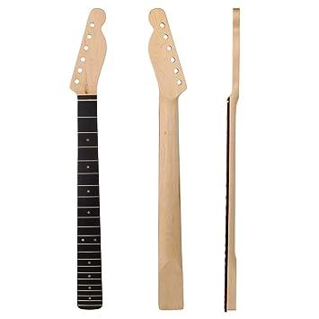 yibuy 680 x 80 x 29 mm madera de arce Cuello Diapasón derecho para 22 trastes para guitarra eléctrica de 6 cuerdas, madera: Amazon.es: Instrumentos ...