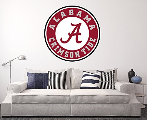Alabama crimson tide wall decal home decor art college for Alabama football wall mural