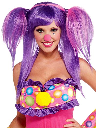 Forum Novelties Women's Circus Sweetie Costume Wig, Purple/Pink, One Size