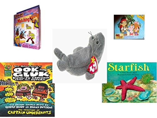 Children's Gift Bundle - Ages 3-5 [5 Piece] - Scooby-Doo. Matching Card Game - Jake and the Never Land Pirates 24 Piece Puzzle Toy - Ty Beanie Baby - Slippery (Scooby Doo 3 Piece)