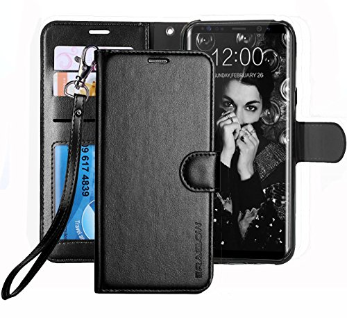 Galaxy S8 Plus Case, ERAGLOW Luxury PU Leather Wallet Flip Protective Case Cover with Card Slots and Kickstand for Samsung Galaxy S8 Plus