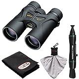 Nikon Prostaff 3S 10x42 Waterproof/Fogproof Binoculars with Case + Cleaning & Accessory Kit