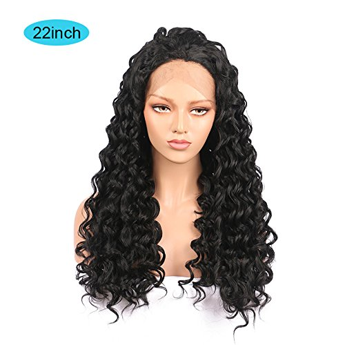 Long Hair Curly Wavy Full Head Black WigsFoviza Cosplay Wig Costume Party Hairpiece for Women