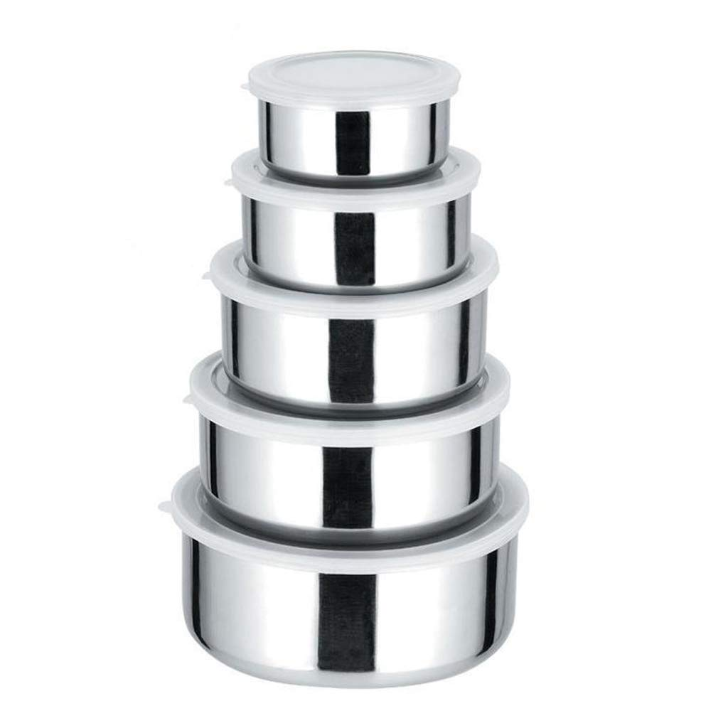 Stainless Steel Lunch Box Food Storage Containers | BPA Free, Eco-Friendly & Reusable Snack Food Nesting Containers for Kids & Adults | Set of 5 Vchoco