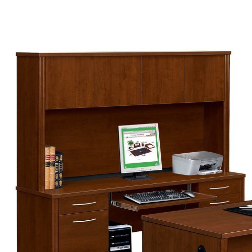 Bestar Office Furniture Embassy Collection Hutch 66''W, Tuscany Brown Melamine Finish by Bestar