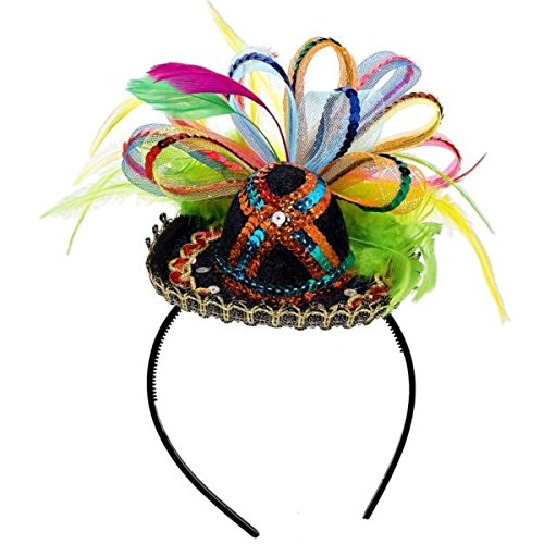 Amscan Cinco De Mayo Black Sequined Sombrero Headband | Party Accessory ()