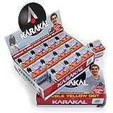 KARAKAL(カラカル) スカッシュボール SQUASH BALLS-NRG 箱12個入り KZ 598 黒