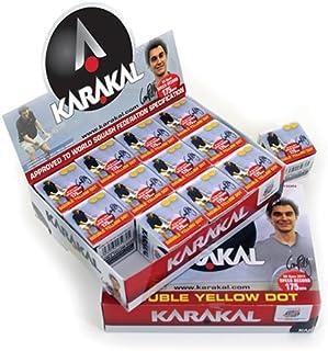 Karakal DY Balles de squash Lot de 12 KZ 598