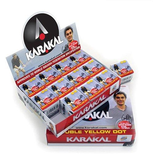Karakal - Juego de pelotas de squash (12 unidades) KZ 598
