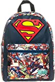 Meroncourt DC Comics Superman Big Logo Children's Backpack with Comic Artwork 13.16 Liters, Dark Blue BIO-BP0HBMSPM
