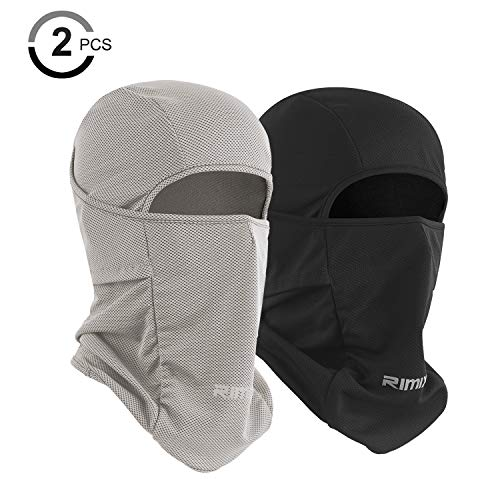Adjustable Mask - Botack Ice Silk Balaclava UV Protection Windproof Breathable Full Face Mask Adjustable Cycling Hiking Mask for Men Women