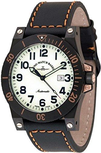 Zeno-Watch Mens Watch - Muscle Lumi Automatic - 8095-bk-s9