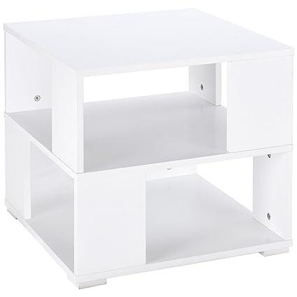 Amazoncom Wood Square Coffee End Side Table With Storage Cube - Square coffee table with storage cubes