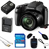 Panasonic LUMIX DC-FZ80 18.1 MP Digital Camera with 60x Optical Image Stabilized Zoom and 3-Inch LCD (Black) with 32 GB Memory Card and Pixi Starter Bundle