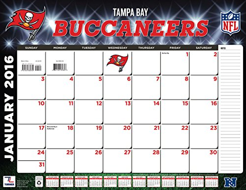 "Turner Tampa Bay Buccaneers 2016 Desk Calendar, January-December 2016, 22 x 17"" (8061553)"