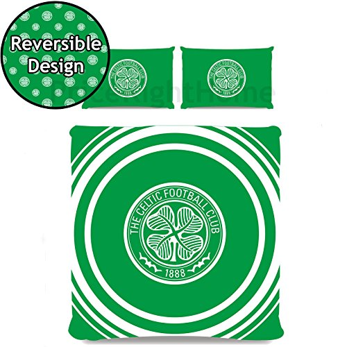 Celtic FC Pulse 2 Piece UK Double / US Full Sheet and Pillowcase (Celtic Fc Bedding)
