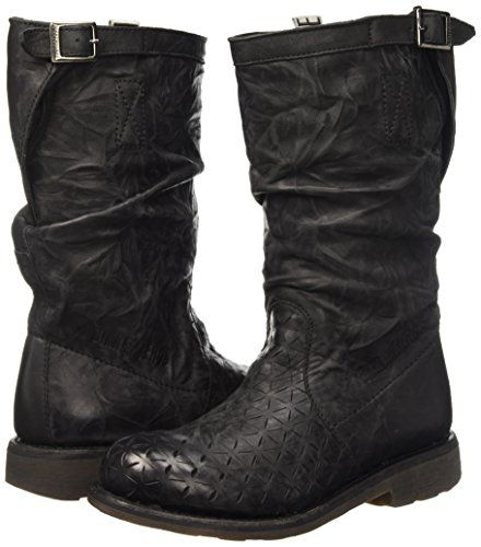 Leather origami Low Effect boot Scarpe W Nero M Vintage black 255 Donna Bikkembergs top wqpZ7X0