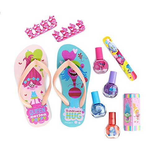 [TownleyGirl Dreamworks Trolls My Beauty Spa Set Polish, Buffer, File, Sandals and Toe Separators, 10 Piece] (Quick Costume Ideas For Work)