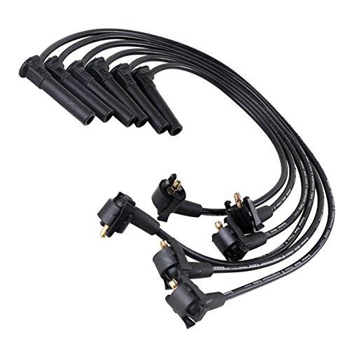 8mm Spark Ignition Plug Wire Set fit for 2001-2003 Ford Explorer 2002-2003 Ford Explorer Sport Trac 2001-2005 Ford Ranger Mazda B4000 V6 4.0L 4016CC