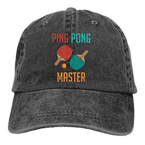 - GDPOOL Ping Pong Master Mans Baseball Cap Dad Hat Black