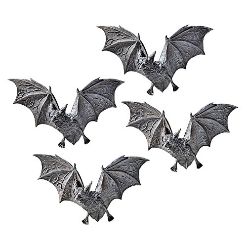 Design Toscano Vampire Bat - The Vampire Bats of Castle Barbarosa Wall Sculptures - Set of 4 - Bat Figure - Halloween Bats -