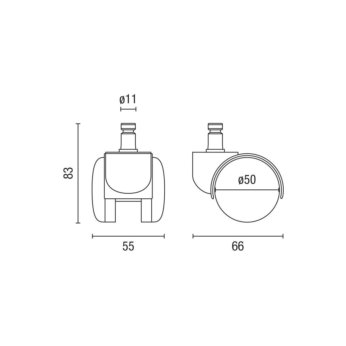 Pies fijos para sillas giratorias Tacos-topes fijos para Silla Escritorio giratoria Enganche de 11 mm para sillones