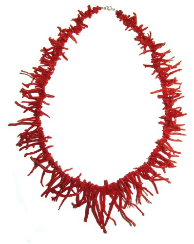 Branch Coral Necklace Genuine Natural Medium Red Italian Mediterranean 20 Inches in Length