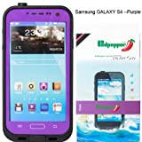 Redpepper Samsung Galaxy S4 9500 Waterproof Dirtproof Snowproof Shockproof Case for Christmas Presents (Purple)