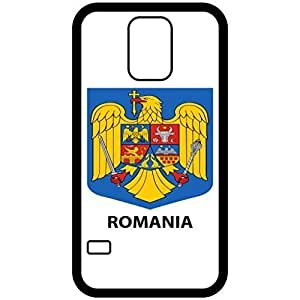 Romania - Coat Of Arms Flag Emblem Black Samsung Galaxy S5 Cell Phone Case - Cover