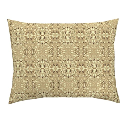Roostery Hearts Euro Knife Edge Pillow Sham The Soul of A Victorian Machine by Edsel2084 Natural Cotton Sateen Made -