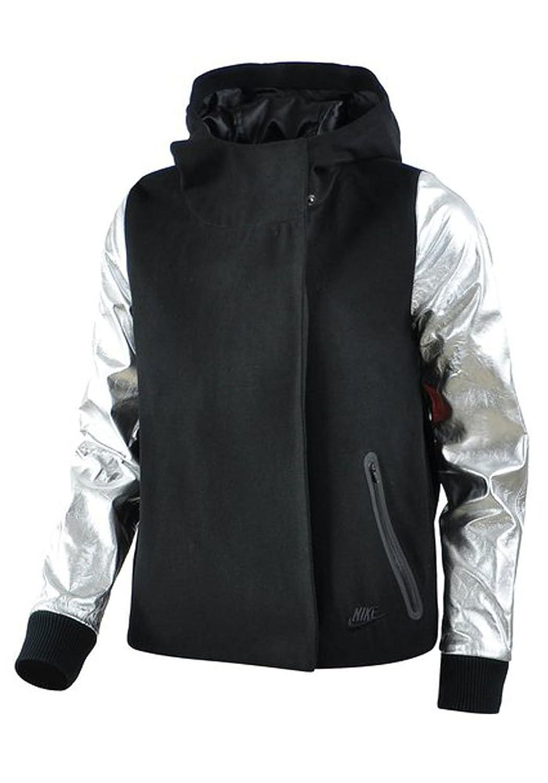 Nike Women 's Destroyerバタフライジャケット、ブラック/マットシルバー/ブラック(Large) B00U45H3OCBlack/Matte Silver/Black Medium
