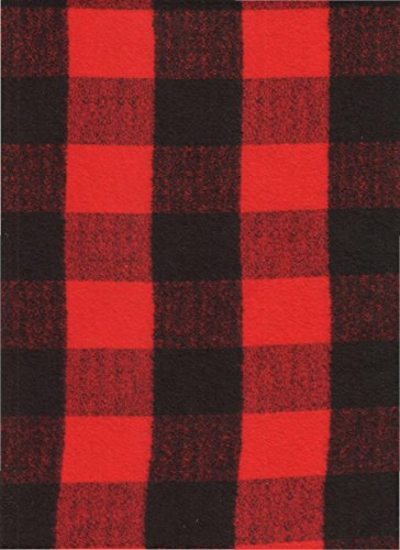 "Red Buffalo Check Plaid Homespun Flannel Quilt Fabric ~ HALF YARD ~ Red & Black Paul Bunyan Shirting by Kaufman #SRKF-14876-3 ~ Flannel Quilt Fabric 100% Cotton 41/42"" Wide"