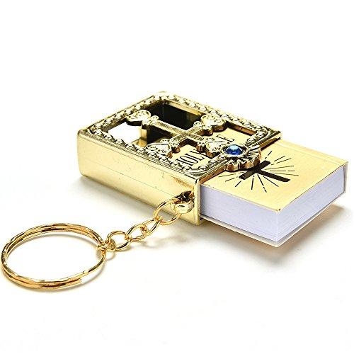 Yamalans Fashion Holy Bible Miniature Paper Spiritual Christian Jesus Keychain Keyring