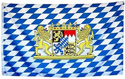 Bayern Bandera de Neutral/Escudo/rombos con ojete para jardín, camping, 60 x 90 cm