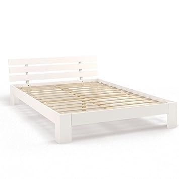 Bett weiß holz 140x200  Holzbett Doppelbett Holz 140x200 160x200 180x200 cm Massivholz ...