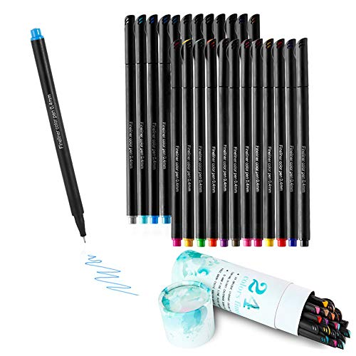 Journal Set Math (KAILEDI Fineliner Color Pens Set , Colored Fine Point Pens Markers , Fine Point Bullet Journal Pens Sketch Writing Drawing Markers Set for Coloring Book Taking Note Calendar-Water Brush Pens (Black))