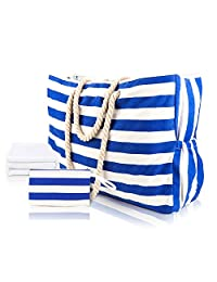 Extra Large Beach Bags Waterproof Mesh Totes with Beach Towel